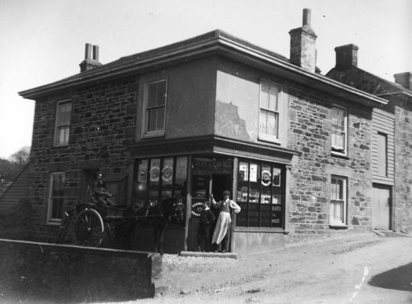 Arthur's Corner Shop, Redruth, Cornwall. Early 1900s. © From the collection of the RIC