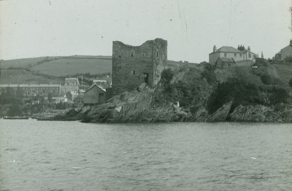 Glass lantern slide from a lecture, entitled 'Some Historic Cornish Beauty Spots', given by Cornishman and amateur photographer, Major Gill, in around 1925