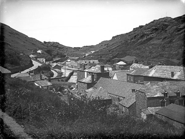 Image of village from Vallency Valley, from above - back of the mill. Photographer: Herbert Hughes