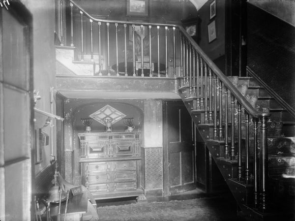 The interior of the Grade II listed house, with staircase. Photographer: Arthur William Jordan