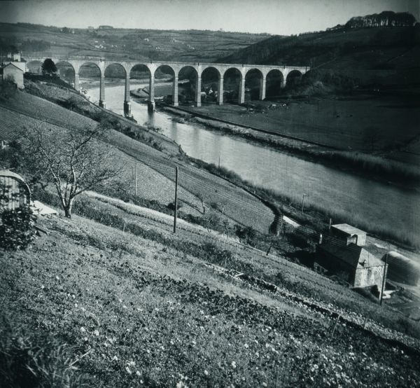Calstock viaduct, Cornwall. After 2nd March 1908. © From the collection of the RIC
