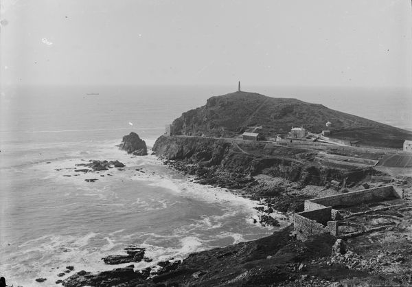 View of Cape Cornwall from the St Just United mine. Photographer: Unknown