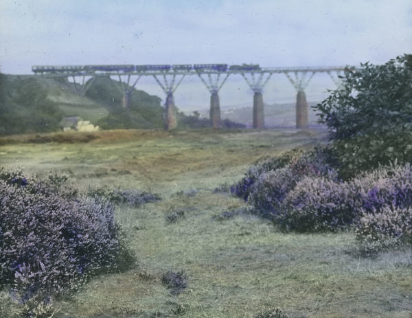 Isambard Kingdom Brunel's original wooden viaduct crossing the Carnon valley, which opened in 1863
