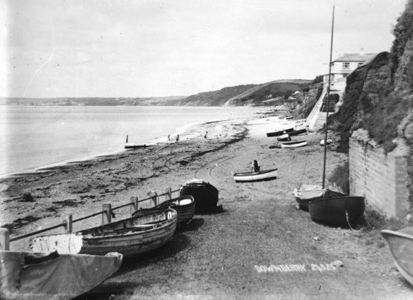 Foreshore with small boats on the slipway looking west. Photographer: Unknown
