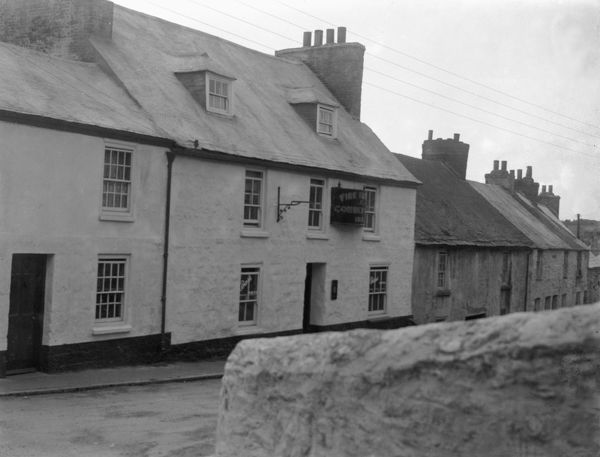 The Fire Engine Inn on Higher Fore Street. Part of the A.K. Hamilton Jenkin collection. Photographer: Unknown