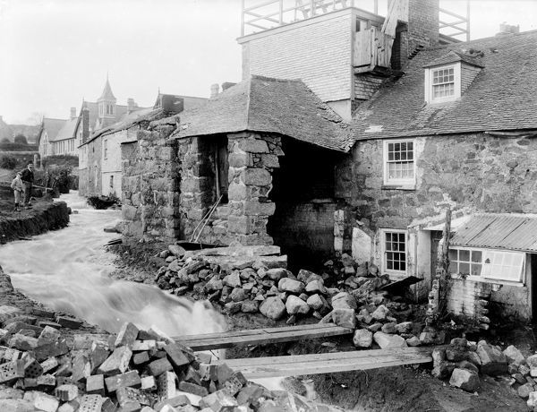 Flood damage in the Stennack after the inundation of 12 November 1894. Photographer: John Charles Burrow