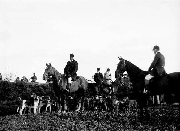 The Fourburrow Hunt, Cornwall. 1st November 1911. © From the collection of the RIC