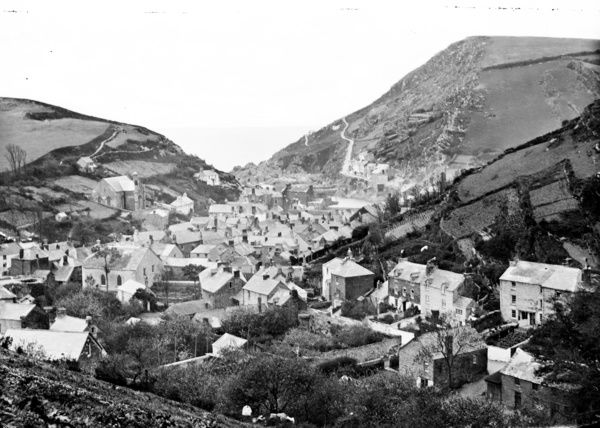 View over village looking seawards taken by Surgeon Captain John Campbell. Pre-1900