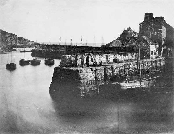 Harbour walls, Polperro, Cornwall. Probably 1861
