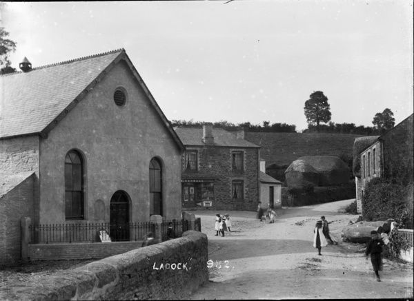 Ladock Village with the Chapel on the left and H