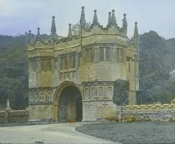 Glass lantern slide from a lecture, entitled 'Some Historic Cornish Beauty Spots', given by Cornishman and amateur photographer, Major Arthur William Gill, in around 1925
