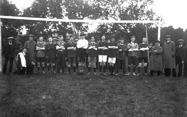 A London football team, Cornwall. 12th September 1914. © From the collection of the RIC