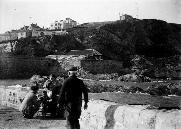 View looking back towards the inner harbour from the outer harbour wall. Photographer: Unknown