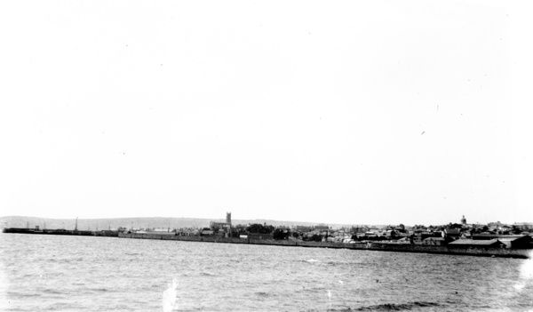 Distant view of Penzance taken from Long Rock. Part of the A.K. Hamilton Jenkin collection. Photographer: Unknown