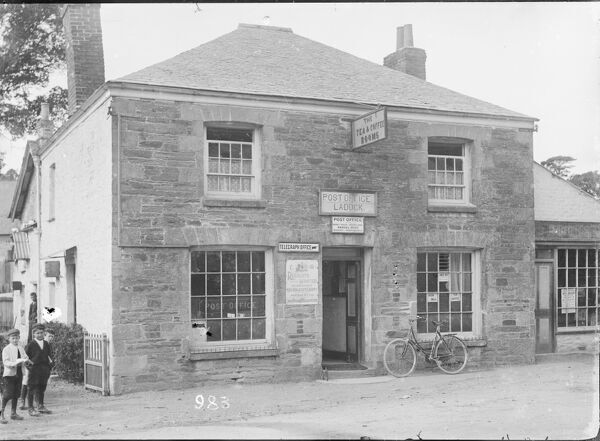 Post Office with Tea and Coffee Rooms. There is an Edwardian army recruiting poster outside. Photographer: Arthur Philp