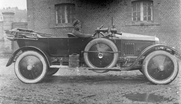 War office Vauxhall staff car. Unknown location. Photographer: T.H. Williams