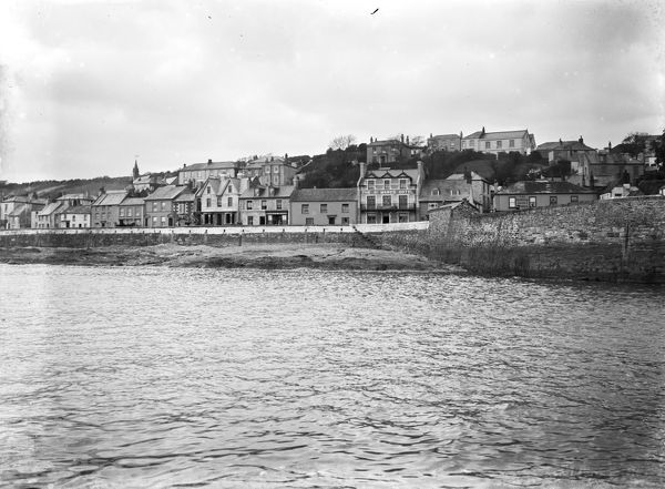 A view of the waterfront at St Mawes from the sea. Photographer: Canon Henry Holroyd Mills