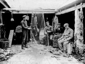 The Active Pilchard Cellar, Newquay, Cornwall. Around 1900