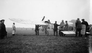 Aircraft preparing for take off, possibly Penzance, Cornwall. 1912-1913