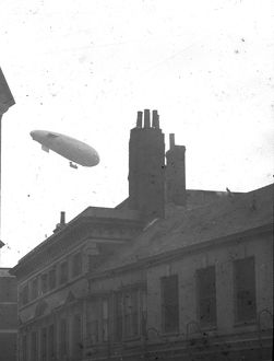 Airship over Truro, Cornwall. 1914 -1918