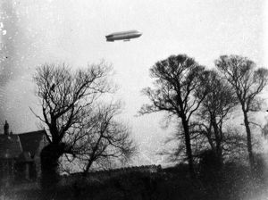 Airship over Truro, Cornwall. 1916