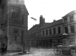 Airship over Truro, Cornwall. Around 1918
