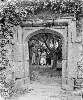 Archway in Rialton Manor, St Columb Minor, Cornwall. Around 1920