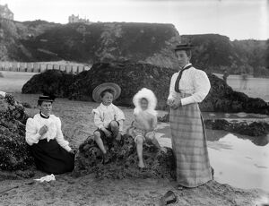 The Beach, Newquay, Cornwall. Early 1900s