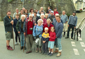 Beating the Bounds, Lostwithiel, Cornwall. May 2000