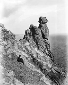 Bishop Rock, Rinsey, Breage, Cornwall. Probably early 1900s