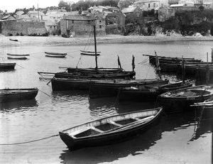 Boats in the harbour, Gorran Haven, Cornwall. Probably early 1900s