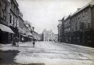 Boscawen Street view from west end looking east, Truro, Cornwall. Pre 1891