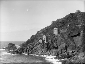 Botallack Mine, St Just in Penwith, Cornwall. Around 1896