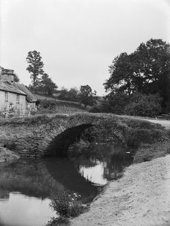 The bridge at Lerryn, St Veep, Cornwall. 1914