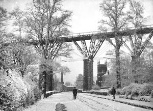 Brunel's Carvedras Viaduct, St George's Road, Truro, Cornwall. Circa 1890