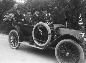 Buick motor car with four male passengers. Around 1912