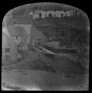 Cadgwith harbour. Late 1800s