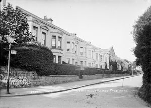 Cambridge Place, Falmouth, Cornwall. Early 1900s
