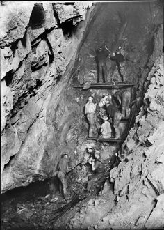 Carn Brea Mine, Illogan, Cornwall. Around 1900