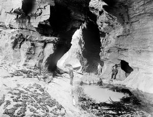 Cathedral Cavern, St Columb Porth, St Columb Minor, Cornwall. June 1909
