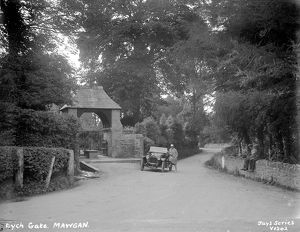Church Lychgate, St Mawgan in Pydar, Cornwall. Around 1920