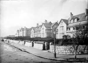 Cliff Road, Falmouth, Cornwall. Early 1900s