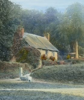A Cornish Cottage, unidentified location, Cornwall. Around 1925