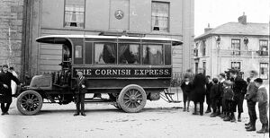 'The Cornish Express' motor bus, St Just in Penwith, Cornwall. 14th May 1903