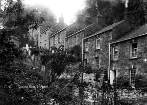 Cottage Row, St Agnes, Cornwall. Early 1900s