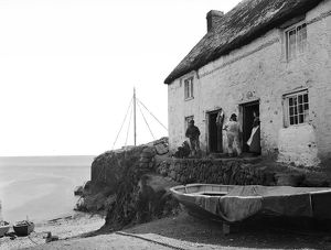 A cottage by the sea in Cadgwith harbour, Cornwall. 1894