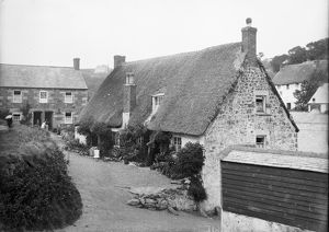 Cottages at Cadgwith, Cornwall. Late 1800s
