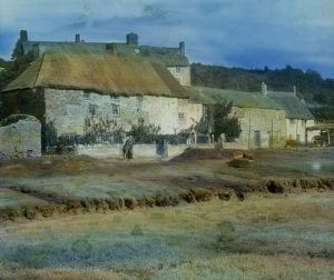 Ruan Lanihorne, cottages at the head of the creek, Cornwall.