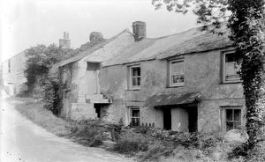Cottages in Zelah, Cornwall. Early 1900s