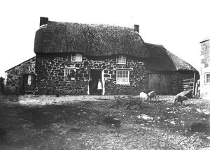 Crowgey Farm and yard, Ruan Minor, Cornwall. September 1902